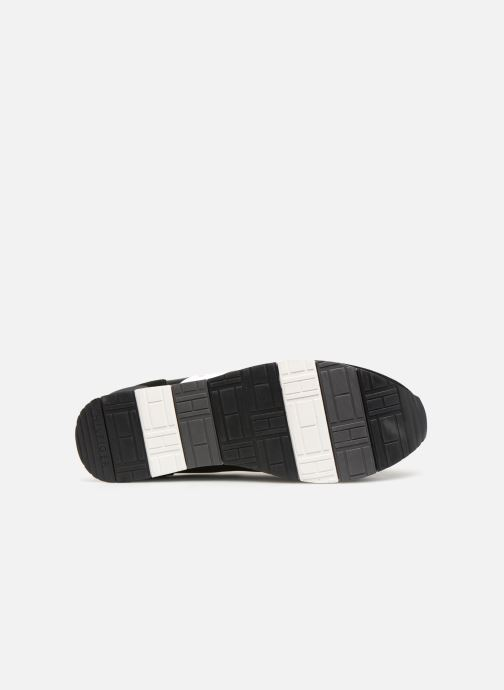 Sneakers Tommy Hilfiger LEATHER MATERIAL MIX RUNNER Zwart boven