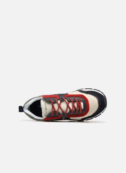 Sneakers Tommy Hilfiger MATERIAL MIX LIGHTWEIGHT RUNNER Blå se fra venstre