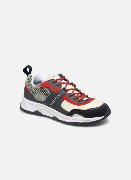 Sneakers Tommy Hilfiger MATERIAL MIX LIGHTWEIGHT RUNNER Blå detaljeret billede af skoene