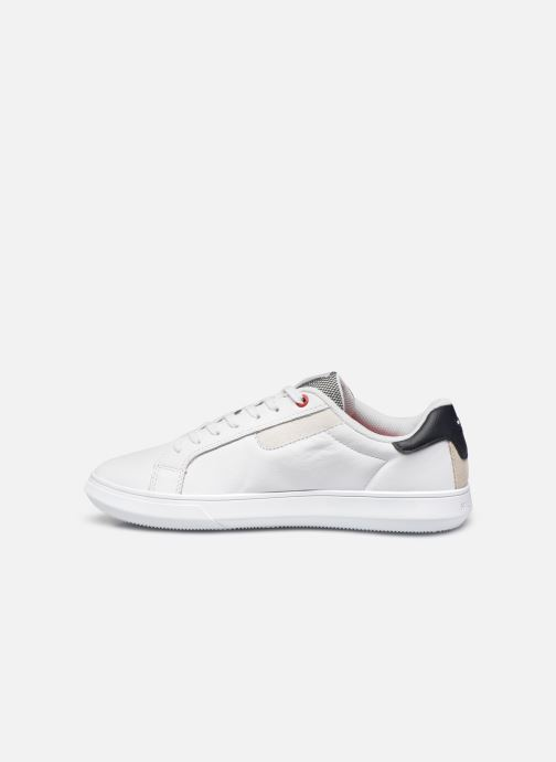 Baskets Tommy Hilfiger ESSENTIAL LEATHER CUPSOLE Blanc vue face