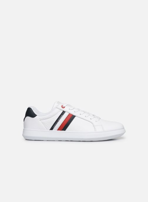 Baskets Tommy Hilfiger ESSENTIAL LEATHER CUPSOLE Blanc vue derrière