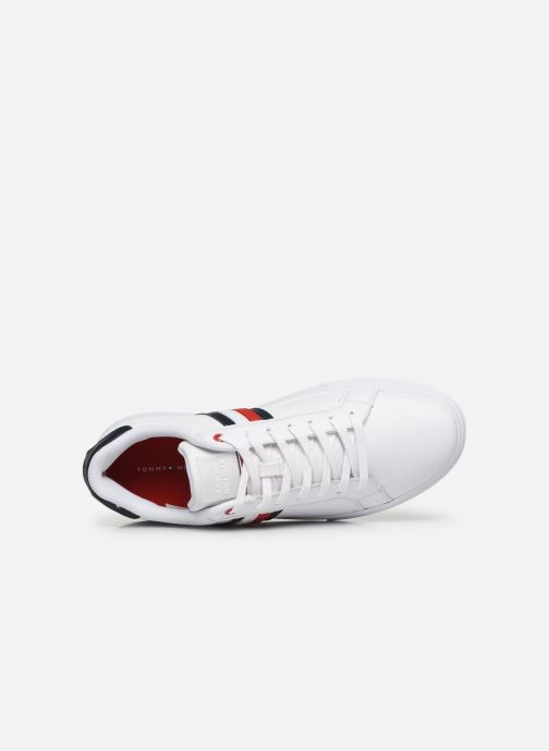 Baskets Tommy Hilfiger ESSENTIAL LEATHER CUPSOLE Blanc vue gauche
