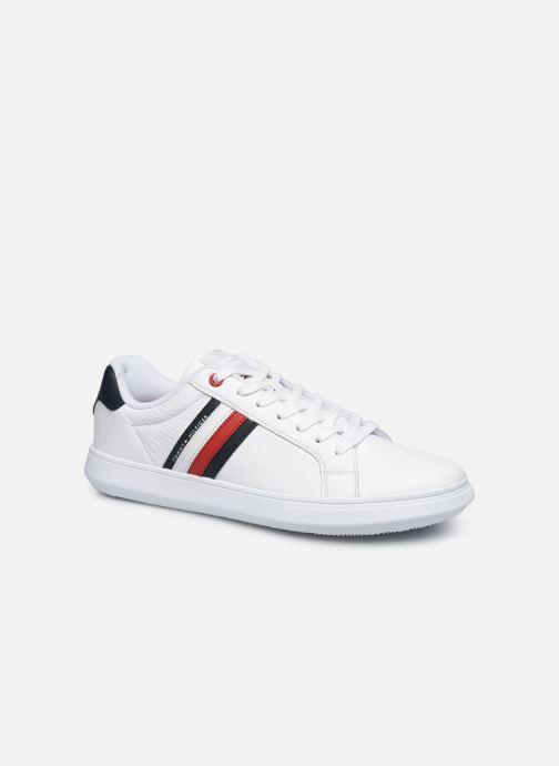 Baskets Tommy Hilfiger ESSENTIAL LEATHER CUPSOLE Blanc vue détail/paire