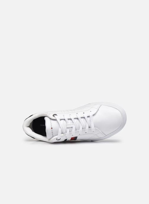 Sneaker Tommy Hilfiger ESSENTIAL LEATHER CUPSOLE weiß ansicht von links