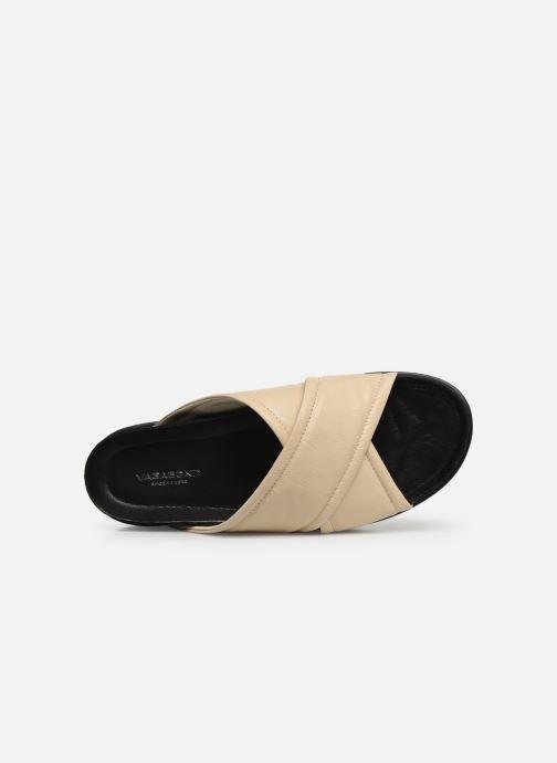 Zuecos Vagabond Shoemakers Erin 4732-201 Beige vista lateral izquierda