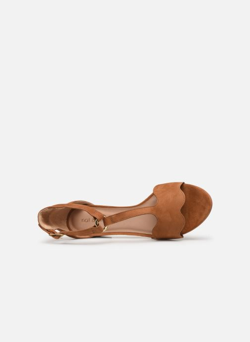 Sandales et nu-pieds Nat & Nin GHIZO Marron vue gauche