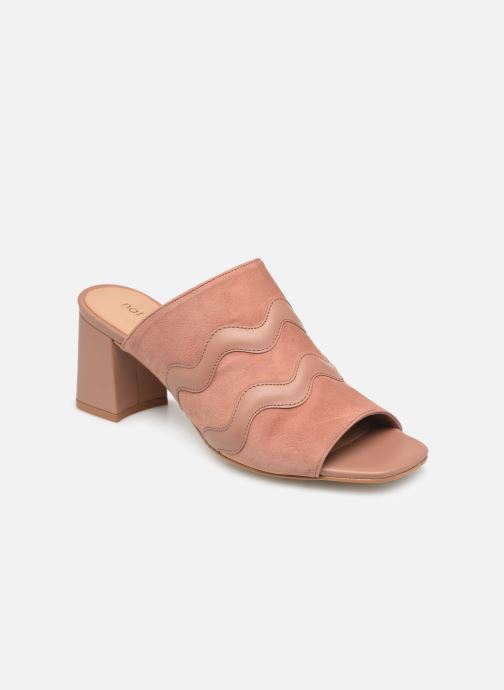 Wedges Nat & Nin MOOREA Roze detail
