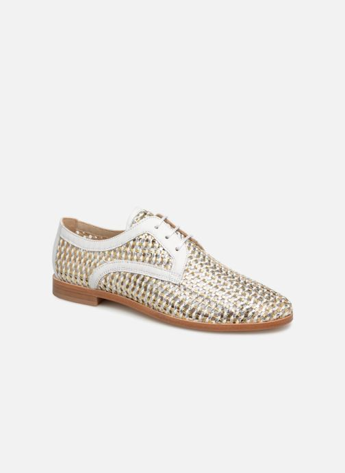 Lace-up shoes Anaki PALERMO Bronze and Gold detailed view/ Pair view
