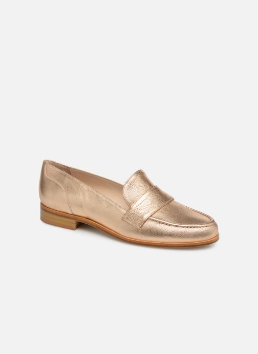 Loafers Anaki PISA Bronze and Gold detailed view/ Pair view