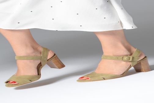 Sandales et nu-pieds Anaki FREDDO Vert vue bas / vue portée sac