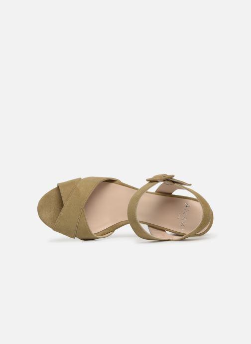 Sandales et nu-pieds Anaki FREDDO Vert vue gauche