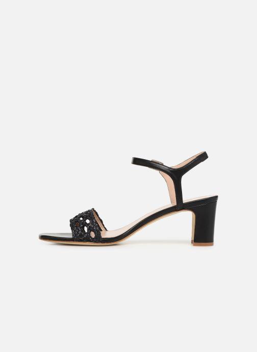 Sandales et nu-pieds Anaki DISO Noir vue face