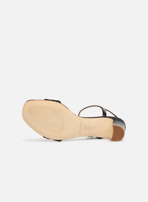 Sandales et nu-pieds Anaki DISO Noir vue haut