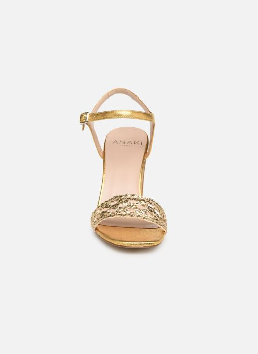 Sandales et nu-pieds Anaki DOLCE Or et bronze vue portées chaussures