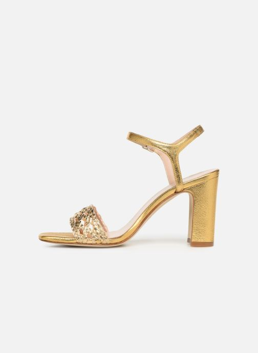 Sandales et nu-pieds Anaki DOLCE Or et bronze vue face