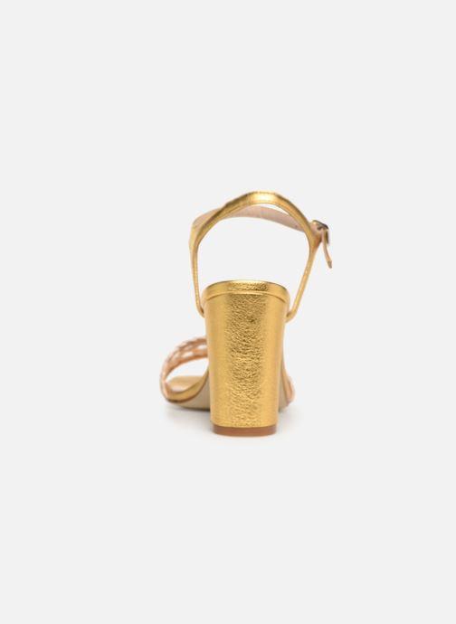Sandales et nu-pieds Anaki DOLCE Or et bronze vue droite