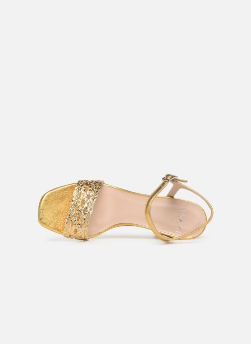 Sandals Anaki DOLCE Bronze and Gold view from the left