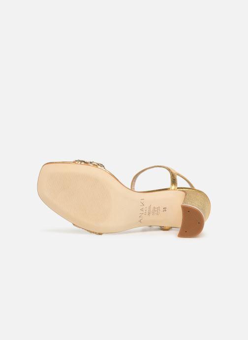 Sandales et nu-pieds Anaki DOLCE Or et bronze vue haut