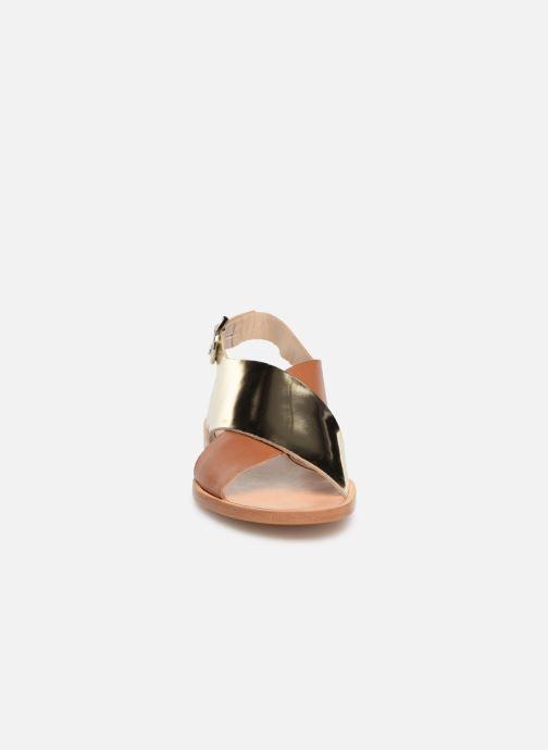 Sandales et nu-pieds Anaki AUSTIN Or et bronze vue portées chaussures