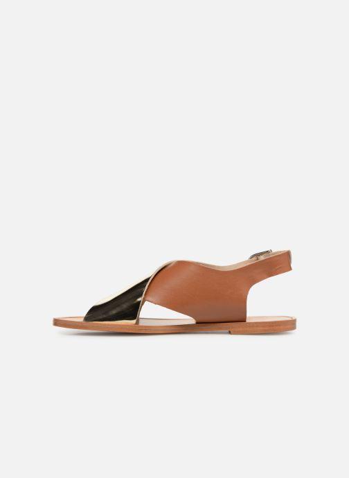Sandales et nu-pieds Anaki AUSTIN Or et bronze vue face