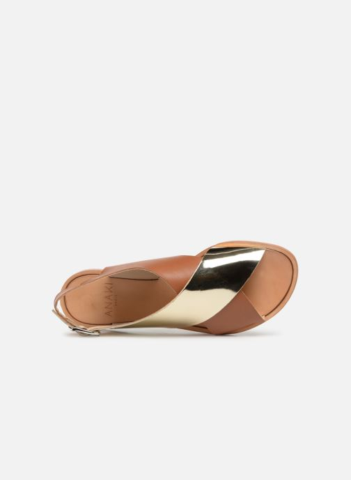 Sandals Anaki AUSTIN Bronze and Gold view from the left
