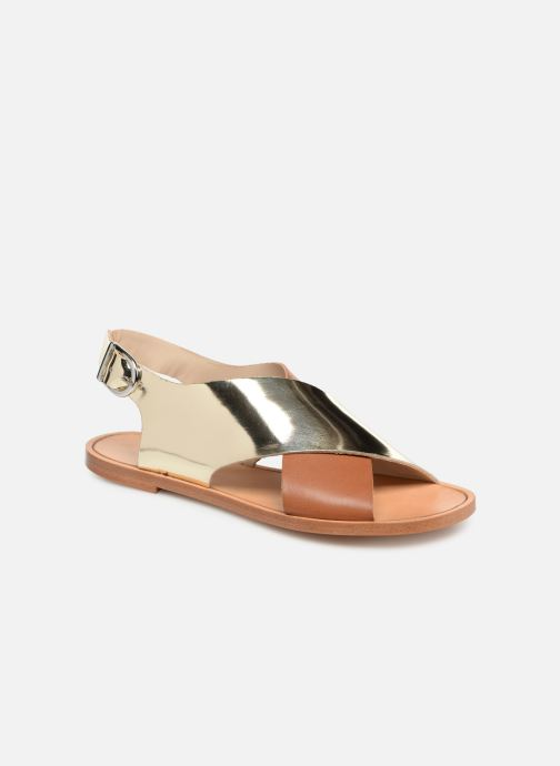 Sandals Anaki AUSTIN Bronze and Gold detailed view/ Pair view