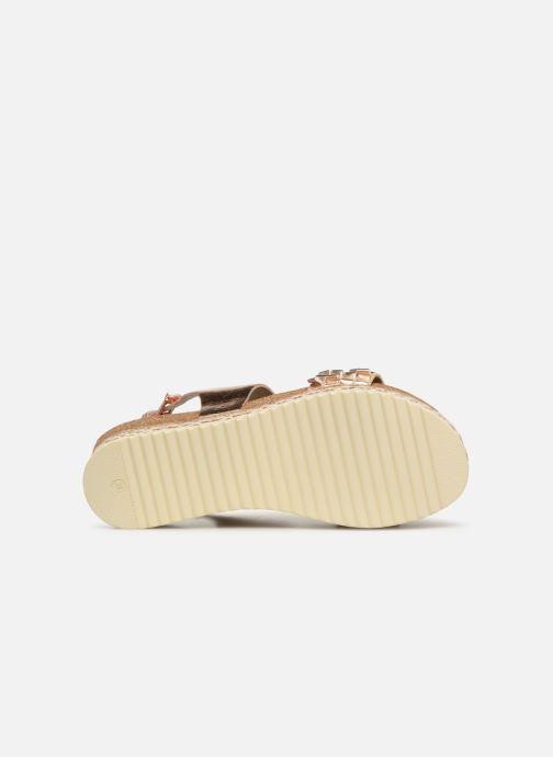 Sandales et nu-pieds Bullboxer 886028F2L Or et bronze vue haut