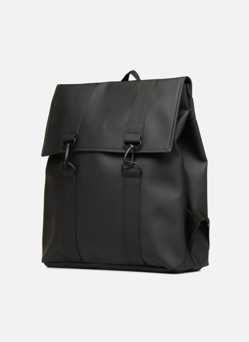 Mochilas Rains  Msn Bag Negro vista del modelo