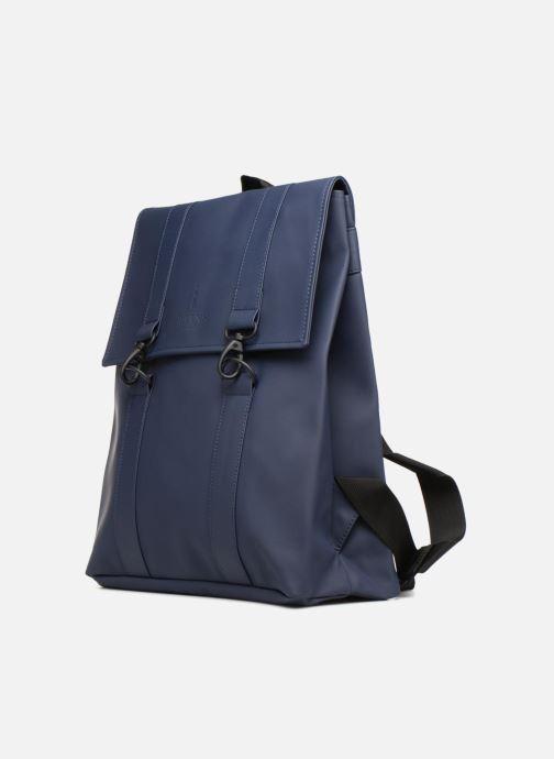 Mochilas Rains  Msn Bag Azul vista del modelo