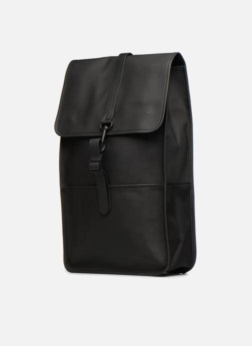 Zaini Rains  Backpack Nero modello indossato
