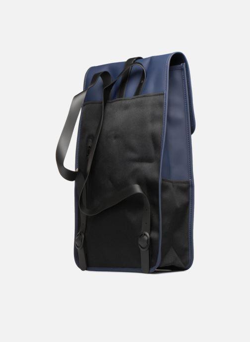 Mochilas Rains  Backpack Azul vista lateral derecha