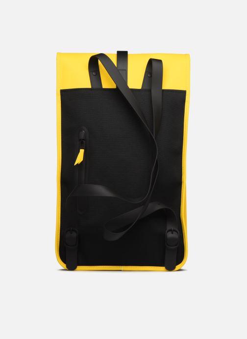 Rucksacks Rains  Backpack Yellow front view