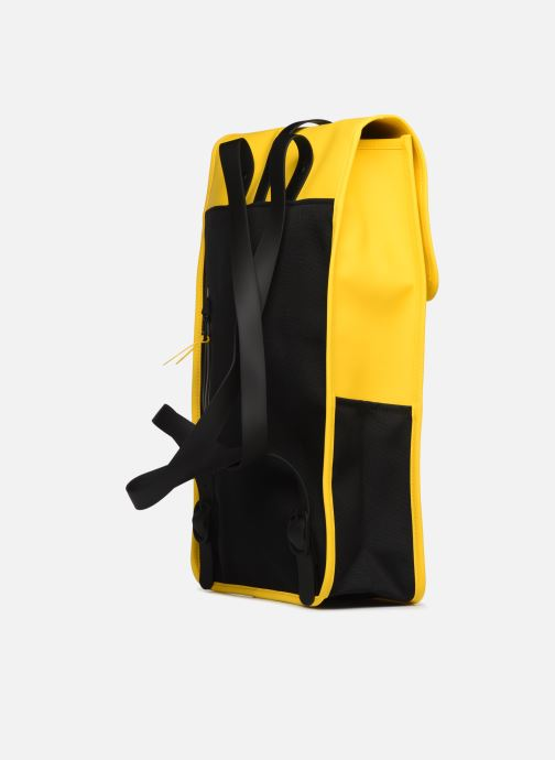 Rucksacks Rains  Backpack Yellow view from the right