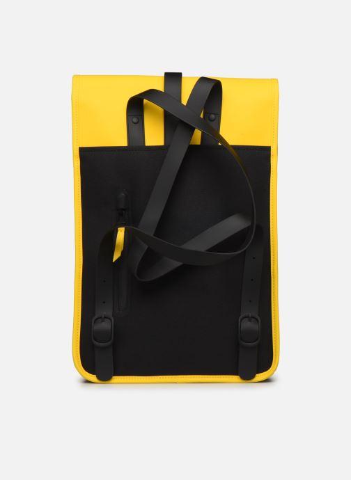 Rucksacks Rains  Backpack Mini Yellow front view