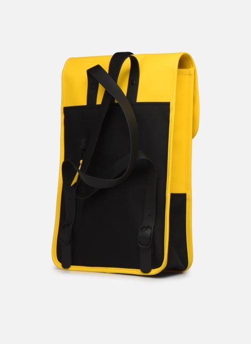 Rucksacks Rains  Backpack Mini Yellow view from the right