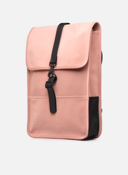 Rucksäcke Rains  Backpack Mini rosa schuhe getragen