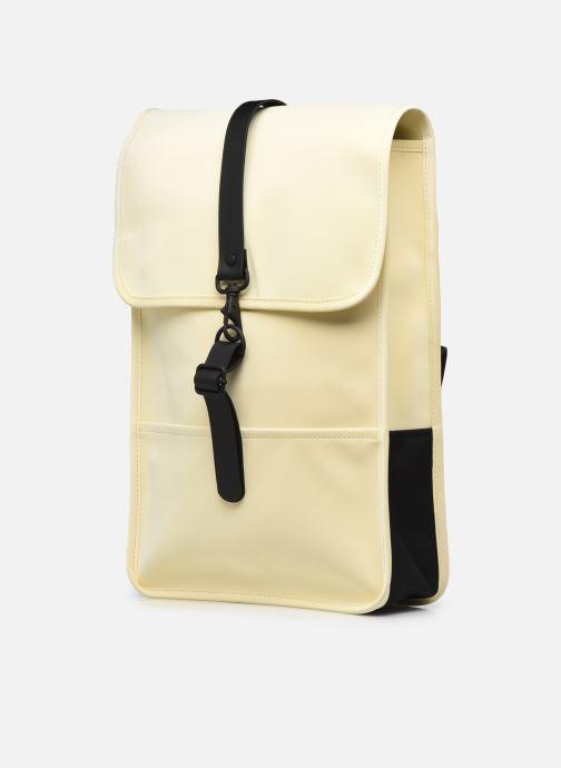 Rucksäcke Rains  Backpack Mini beige schuhe getragen