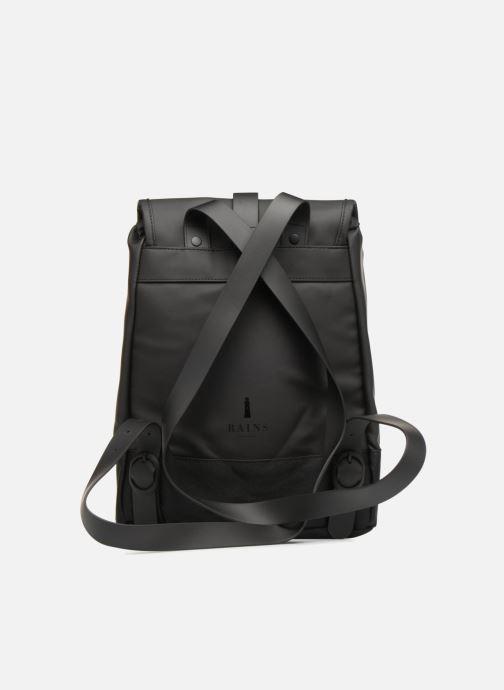 Ryggsäckar Rains  Drawstring Backpack Svart bild från framsidan