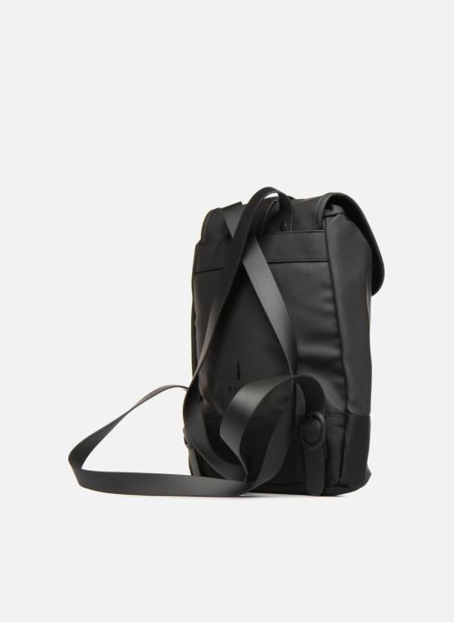 Rucksacks Rains  Drawstring Backpack Black view from the right
