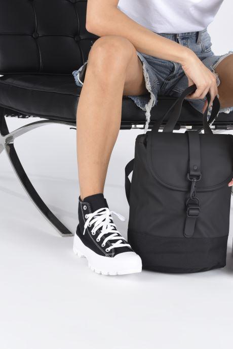 Rucksacks Rains  Drawstring Backpack Black view from underneath / model view