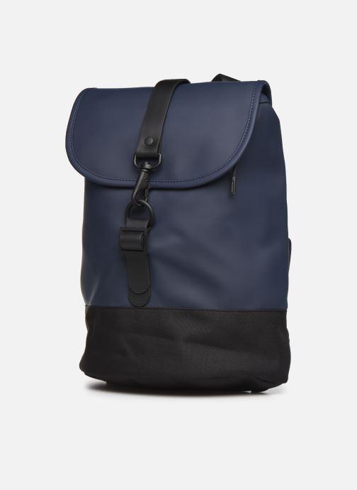 Zaini Rains  Drawstring Backpack Azzurro modello indossato