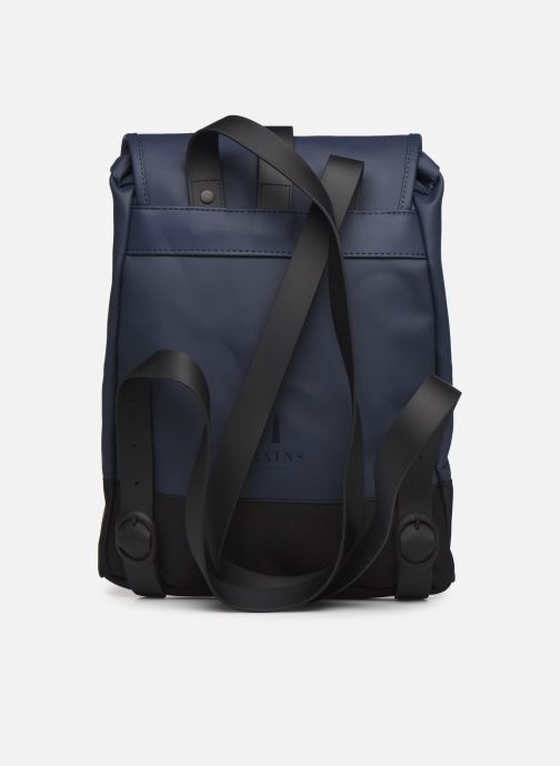 Rucksacks Rains  Drawstring Backpack Blue front view