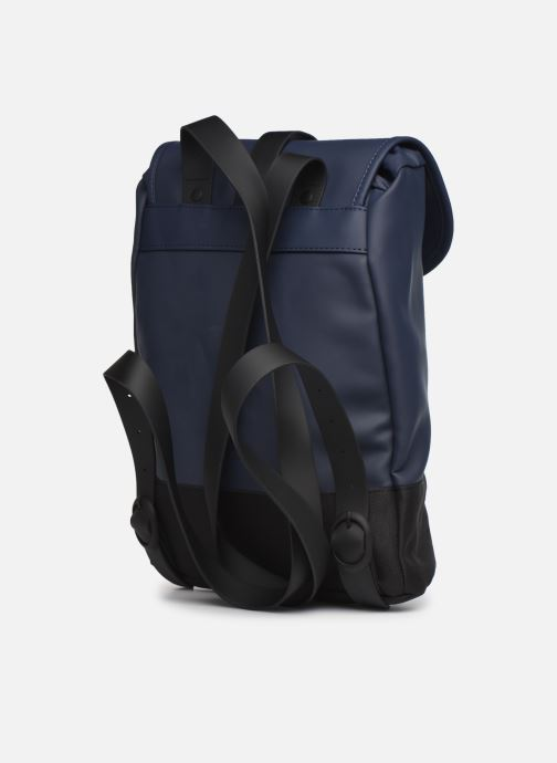 Rucksacks Rains  Drawstring Backpack Blue view from the right
