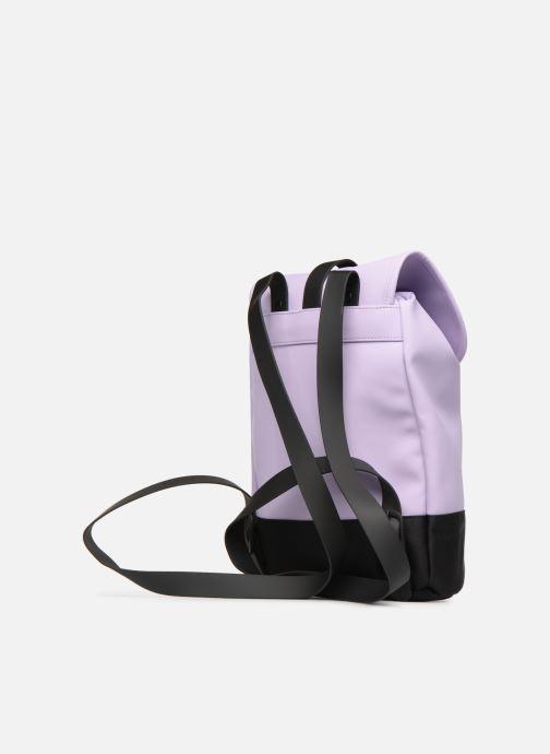 Mochilas Rains  Drawstring Backpack Violeta      vista lateral derecha
