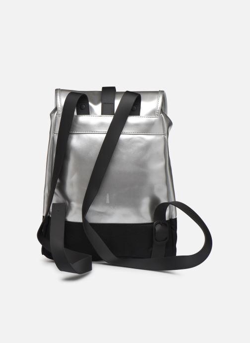 Mochilas Rains  Drawstring Backpack Plateado vista de frente
