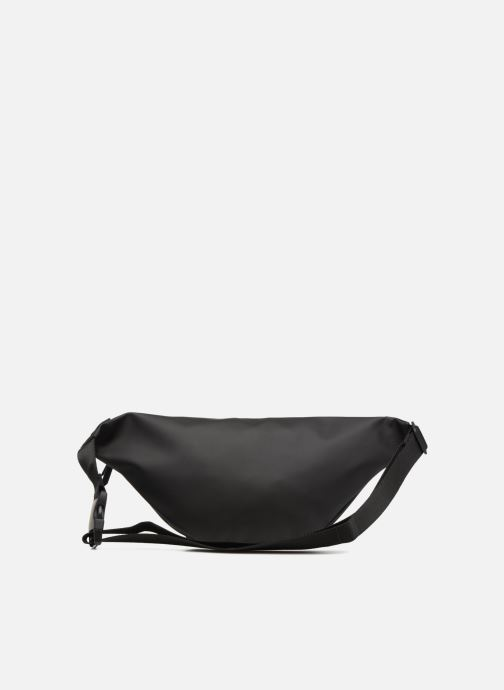 Kleine lederwaren Rains  Bum Bag Zwart voorkant