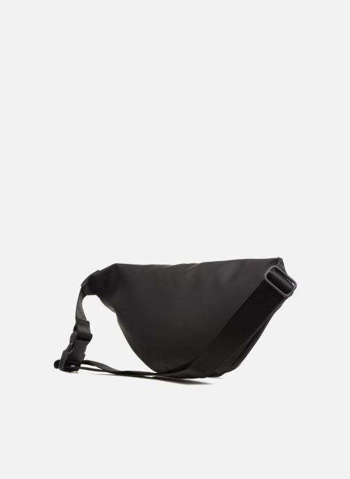 Kleine lederwaren Rains  Bum Bag Zwart rechts