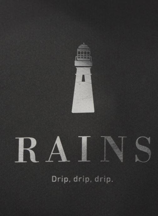 Kleine lederwaren Rains  Bum Bag Zwart links