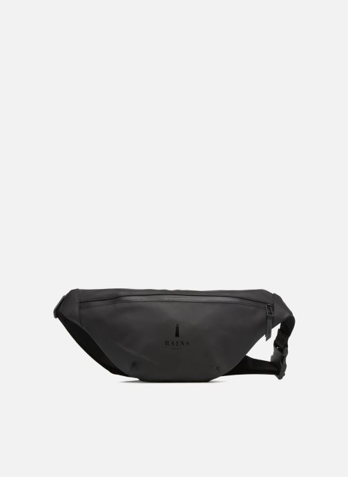 Kleine lederwaren Rains  Bum Bag Zwart detail