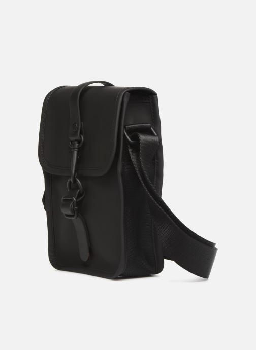 Kleine lederwaren Rains  Flight Bag Zwart model